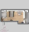 superior studio apartment plan