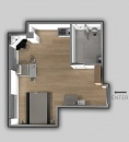 superior apartment with city view plan